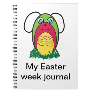 Eggy the Bunny Spiral Notebook