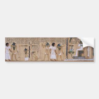 Egipcio antiguo etiqueta de parachoque