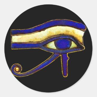 Egipcio antiguo el ojo de Horus Pegatina Redonda