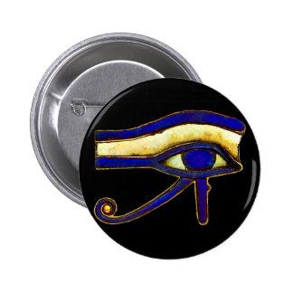 Egipcio antiguo el ojo de Horus Pin Redondo De 2 Pulgadas