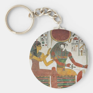 Egipcio antiguo Horus Llavero Redondo Tipo Pin