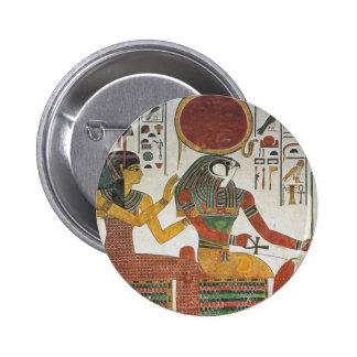 Egipcio antiguo Horus Pin Redondo De 2 Pulgadas