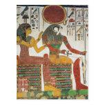 Egipcio antiguo Horus Tarjeta Postal