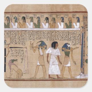 Egipcio antiguo pegatina cuadrada