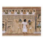Egipcio antiguo tarjeta postal