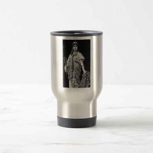 Egipcio antiguo taza de viaje