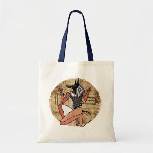Egipcio de Anubis The Guardian Bolsas De Mano