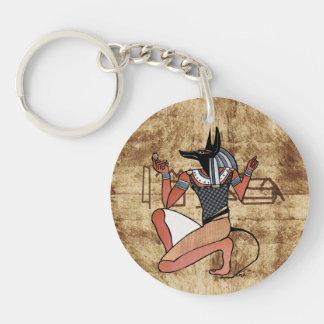 Egipcio de Anubis The Guardian Llavero Redondo Acrílico A Doble Cara