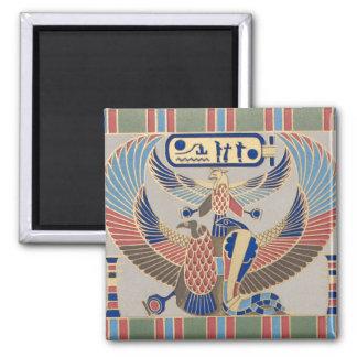 Egipcio del Cartouche del pájaro de la serpiente d Imán Cuadrado