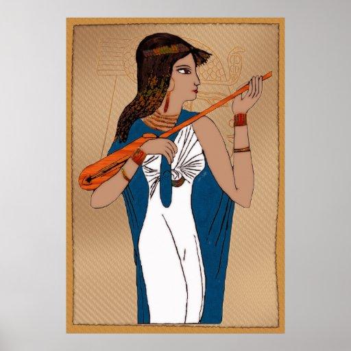Egipcio del griego clásico de Theban Póster