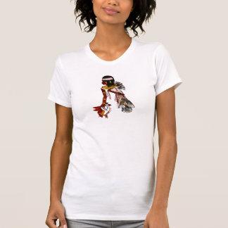Egipcio del vintage de la camiseta con el pájaro