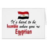 Egipcio humilde tarjetas