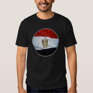Egipt Round Flag Black T-Shirt