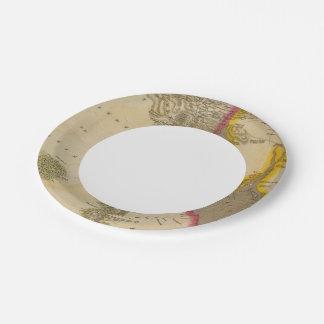 Egipto 10 plato de papel de 7 pulgadas