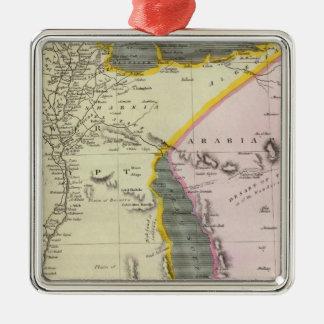 Egipto 4 adorno navideño cuadrado de metal