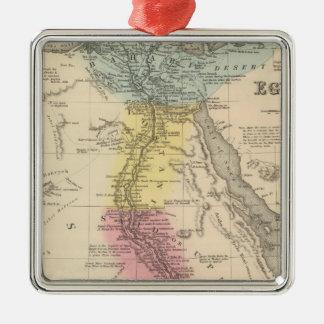 Egipto 5 adorno navideño cuadrado de metal