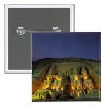 Egipto, Abu Simbel, figuras colosales de Ramesses Pin Cuadrada 5 Cm