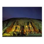 Egipto, Abu Simbel, figuras colosales de Ramesses Tarjeta Postal