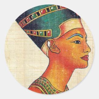Egipto antiguo 2 pegatina redonda