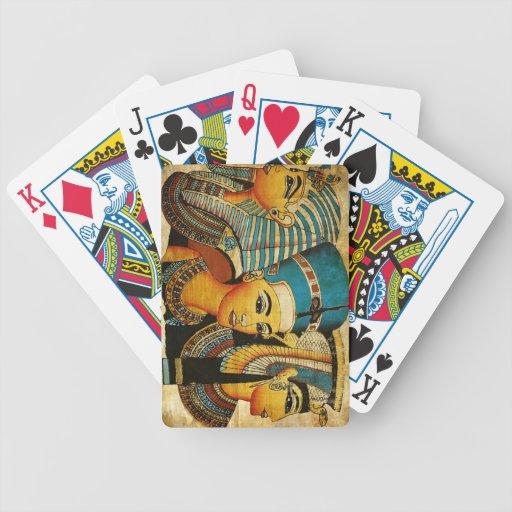 Egipto antiguo 3 baraja cartas de poker