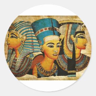 Egipto antiguo 3 pegatina redonda