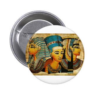Egipto antiguo 3 pin redondo de 2 pulgadas