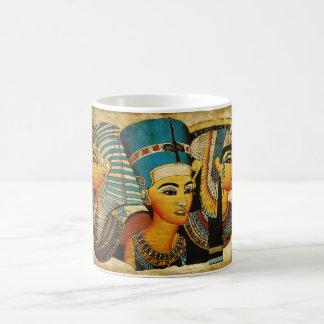 Egipto antiguo 3 taza básica blanca