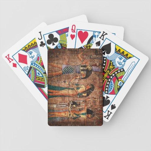 Egipto antiguo 4 baraja cartas de poker