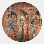 Egipto antiguo 4 etiquetas redondas