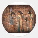 Egipto antiguo 4 pegatina redonda