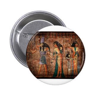 Egipto antiguo 4 pin redondo de 2 pulgadas