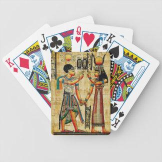 Egipto antiguo 5 baraja de cartas bicycle