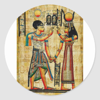 Egipto antiguo 5 pegatina redonda