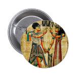 Egipto antiguo 5 pin redondo de 2 pulgadas