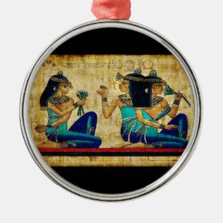 Egipto antiguo 6 adorno navideño redondo de metal