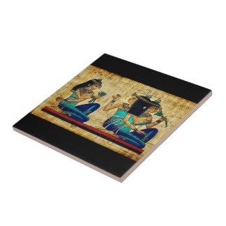 Egipto antiguo 6 azulejo cuadrado pequeño