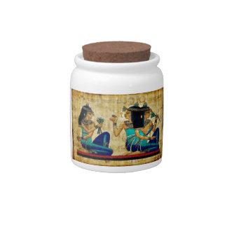 Egipto antiguo 6 jarras para caramelos
