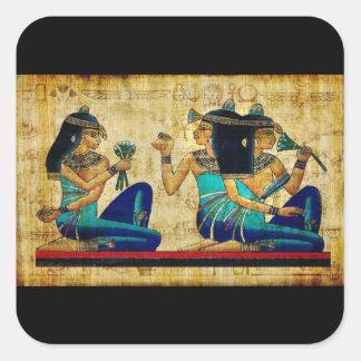Egipto antiguo 6 pegatina cuadrada