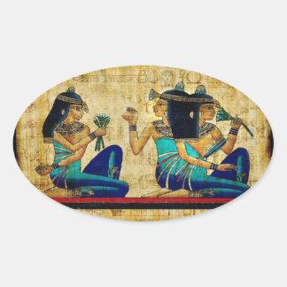 Egipto antiguo 6 pegatina ovalada