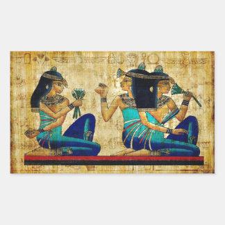 Egipto antiguo 6 pegatina rectangular