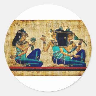 Egipto antiguo 6 pegatina redonda