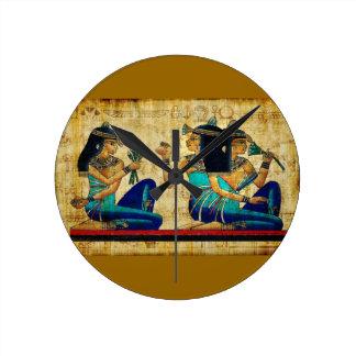 Egipto antiguo 6 reloj redondo mediano
