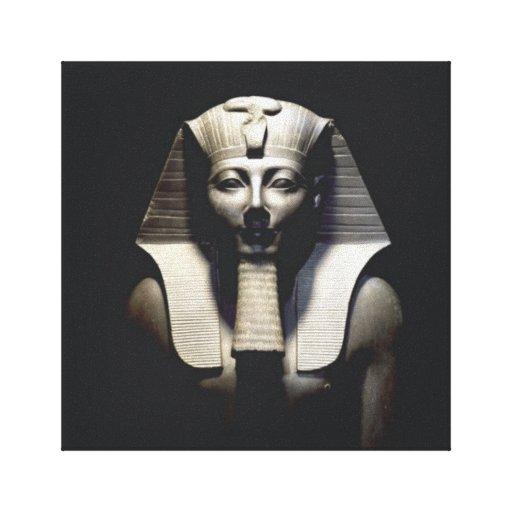 Egipto antiguo el pharaoh lienzo envuelto para galerias