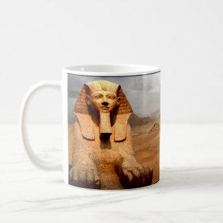 Egipto antiguo, la gran esfinge en Gizeh. Taza De Café