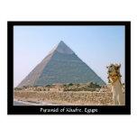 Egipto antiguo: Pirámide de Khafre, Egipto Tarjeta Postal