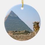 Egipto antiguo: Pirámide y camello Ornamento Para Arbol De Navidad