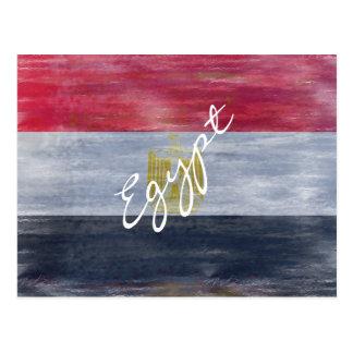Egipto apenó la bandera egipcia tarjeta postal
