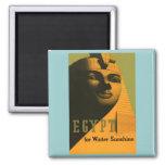 Egipto - arte del poster del viaje del vintage imanes de nevera