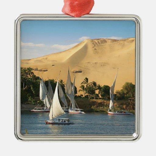 Egipto, Asuán, el río Nilo, veleros de Felucca, 2 Adorno De Reyes