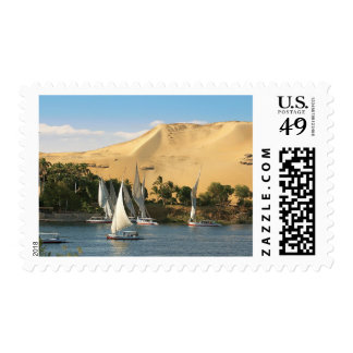 Egipto, Asuán, el río Nilo, veleros de Felucca, 2 Estampilla